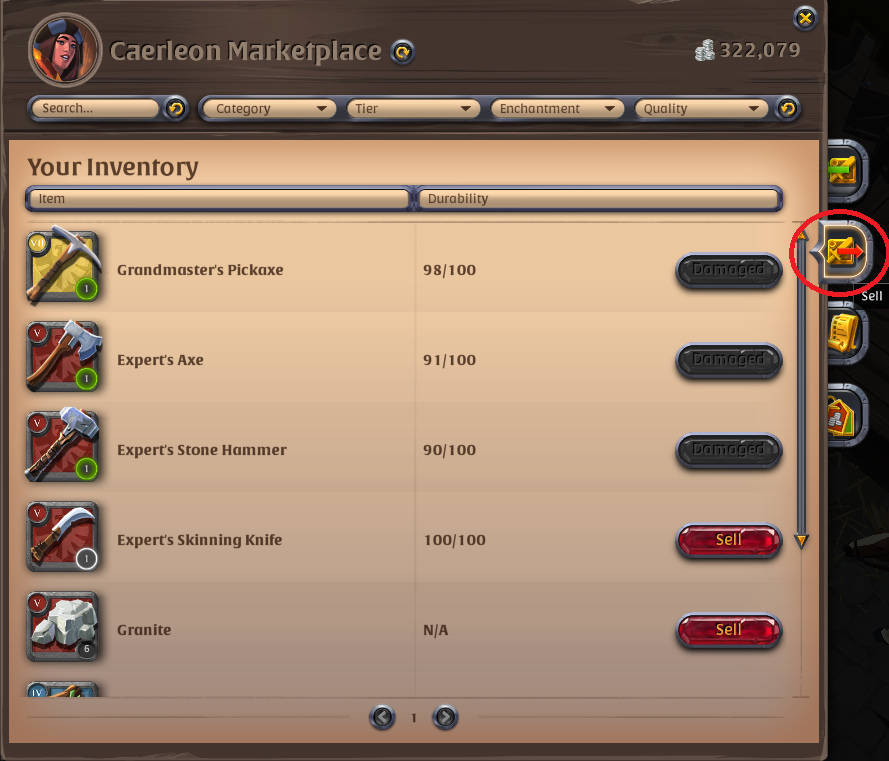 Sell order - Beginner's Questions - Albion Online Forum