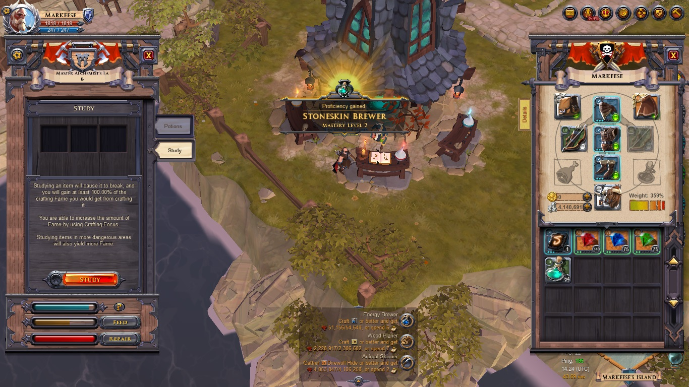 Albion Leveling Crafting