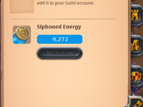 albion how to get siphoned energy
